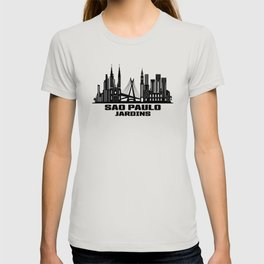 Sao Paulo Jardins Brazil Skyline T-shirt