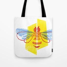 Be Safe - Save Bees linocut Tote Bag