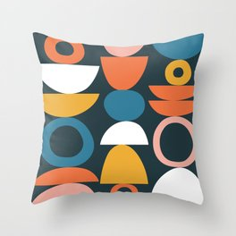 stacked bowls & circles Throw Pillow