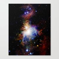 nebula Canvas Prints featuring Orion NebulA Colorful Full Image by 2sweet4words Designs