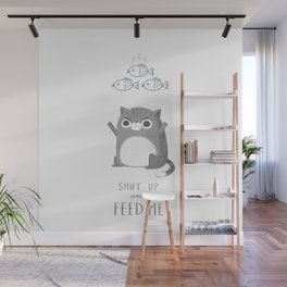 Hungry Cat Wall Mural