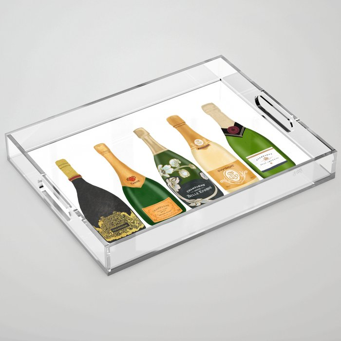 Champagne Bottles Acrylic Tray
