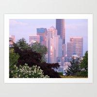 Seattle Glowing • Seattle, Washington Art Print