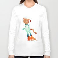 space cat Long Sleeve T-shirts featuring Space Cat by Stephanie Fizer Coleman