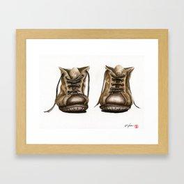 old boot Framed Art Print