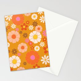 Groovy Mod 60's Flower Power Stationery Cards