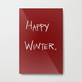 Happy Winter Metal Print