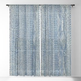 Ndop Cameroon West African Textile Print Sheer Curtain