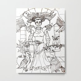 Judy, Queen of Birds Metal Print