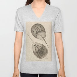 Horseshoe Crabs Unisex V-Neck