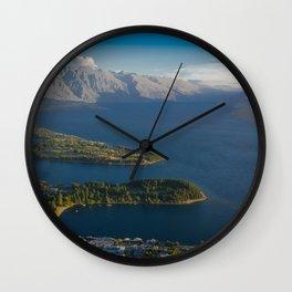 Queenstown New Zealand Wall Clock