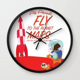 Fly to Mars! Wall Clock