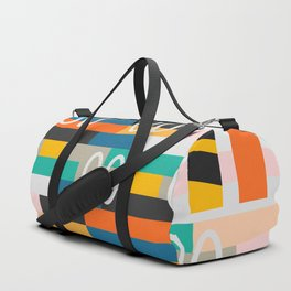 Modern abstract construction Duffle Bag