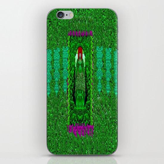 Peace Mermaid Cat iPhone & iPod Skin