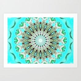 Tropical Floral Mandala Art Print
