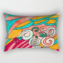 Simple Painting Abstract Multicolor Rectangular Pillow