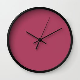 Fascinating Dark Pink - Purple Solid Color Pairs To Sherwin Williams Hot SW 6843 Wall Clock