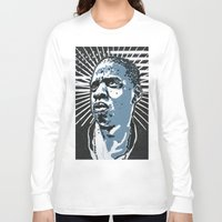 jay z Long Sleeve T-shirts featuring Jay-Z by Hans Poppe