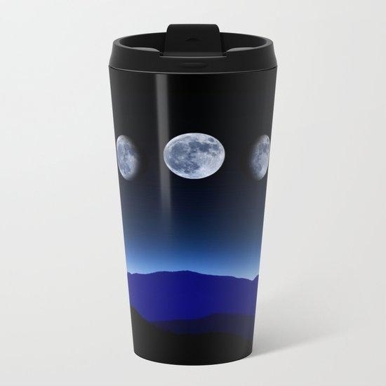 Moon Phases #blue Metal Travel Mug