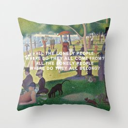 A Sunday Afternoon with Eleanor Rigby Throw Pillow