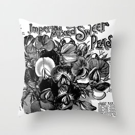 Imperial Mixed Sweet Peas Throw Pillow