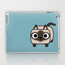 Cat Loaf - Siamese Kitty with Crossed Eyes Laptop & iPad Skin