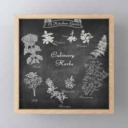 Culinary Herbs for the Kitchen Framed Mini Art Print