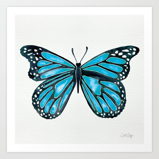 Blue Morpho Butterfly Art Print