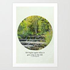 fall leaves + f scott fitzgerald Art Print
