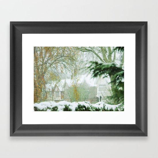 Snowy Morning Framed Art Print