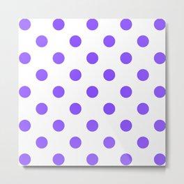 Lilac Purple Polka Dot Pattern Metal Print