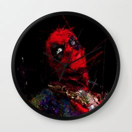 Hero with merc mouth Wall Clock
