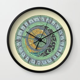 Astrolabe Studies Wall Clock