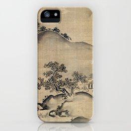 Kano Chikanobu Landscape iPhone Case