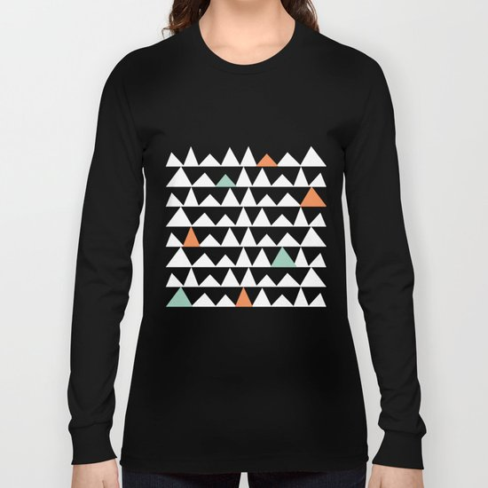 Tribal Triangles, Geometric Aztec Andes Pattern Long Sleeve T-shirt