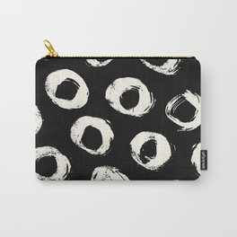 Polka Dots Cream on Black 2 Carry-All Pouch