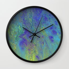 Paint Pouring 4 Wall Clock