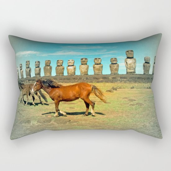 EASTER ISLAND SCENE Rectangular Pillow