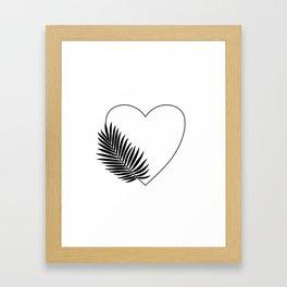 Heart Palm Framed Art Print
