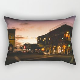 Venice Beach, palm trees, vintage, oceanside, people,  beach photography, California photography Rectangular Pillow