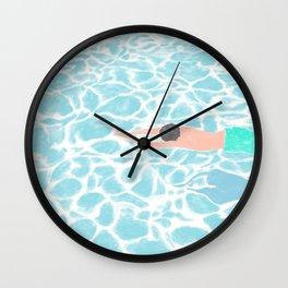 SWIMMING ALONE Wall Clock