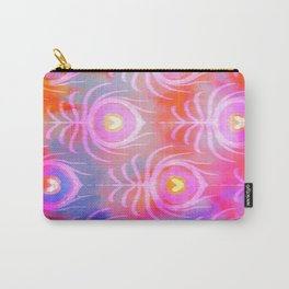 Peacock Feather Batik Carry-All Pouch