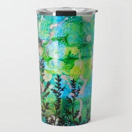 The Cheri - Beautiful Blues, Greens and Botanicals Travel Mug