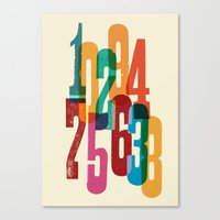 numbers Canvas Prints featuring Numbers by Marco Campedelli