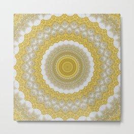 Gold Sparkle Mandala Metal Print