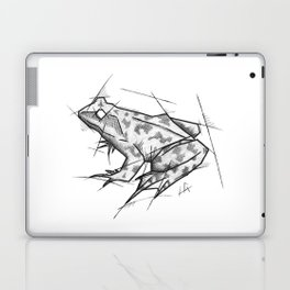 Frog Handmade Drawing, Made in pencil, charcoal and ink, Tattoo Sketch, Tattoo Flash, Sketch Laptop & iPad Skin