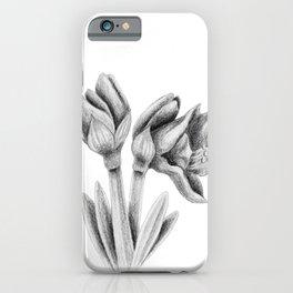 Black and white Amaryllis iPhone Case