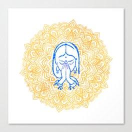 Namaste | Wisdom Flower Mandala Canvas Print