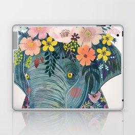 Elephant with flowers on head Laptop & iPad Skin