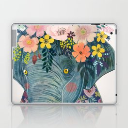 Elephant with flowers on head Laptop & iPad Skin